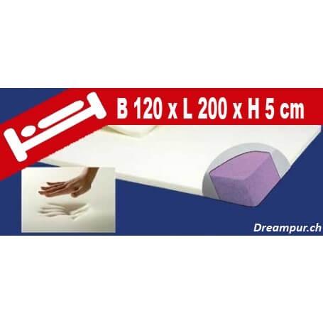 Viscoelastische Vollkern Matratzenauflage von ®DREAMPUR