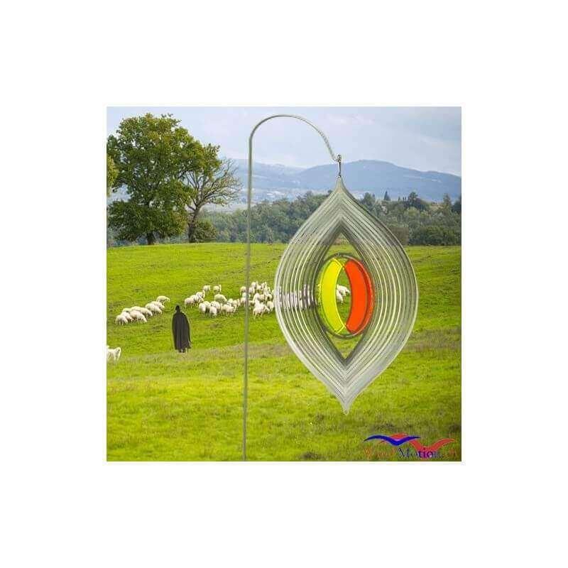 2-teilige Schäferhaken für Edelstahl Windspiele