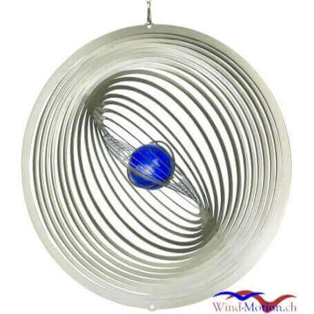 Windspiel Blauer Planet in Motion (30 cm) Made in Germany