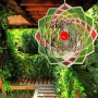 Edelstahlwindspiel Lotus Blume 20 cm