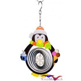 Edelstahlwindspiel Pinguin 18 cm