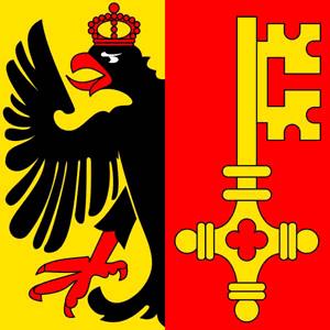 Kantonsfahne Genf - Genève Fahne 120 x 120 cm
