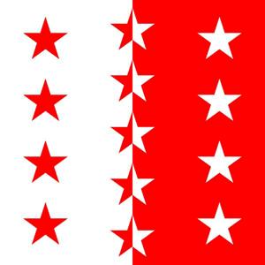 Kantonsfahne Wallis - Walliser Fahne 120 x 120 cm