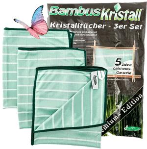 """Set: 3 X Bambus Kristall- Fenster und Geschirrtuch """"Masse 50 X 40 cm"""""""
