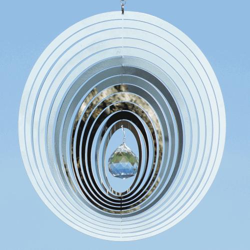 Windspiel Kristall OVAL