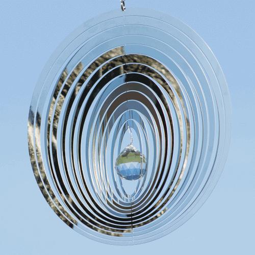 """Windspiel Kristall OVAL """"Glänzend"""""""