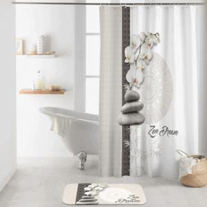 Duschvorhang Orchide von BadeKing, 180 x 200 cm