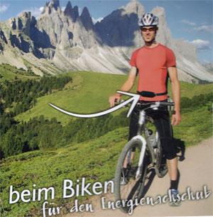 beim Biken - für den Energie Nachschub