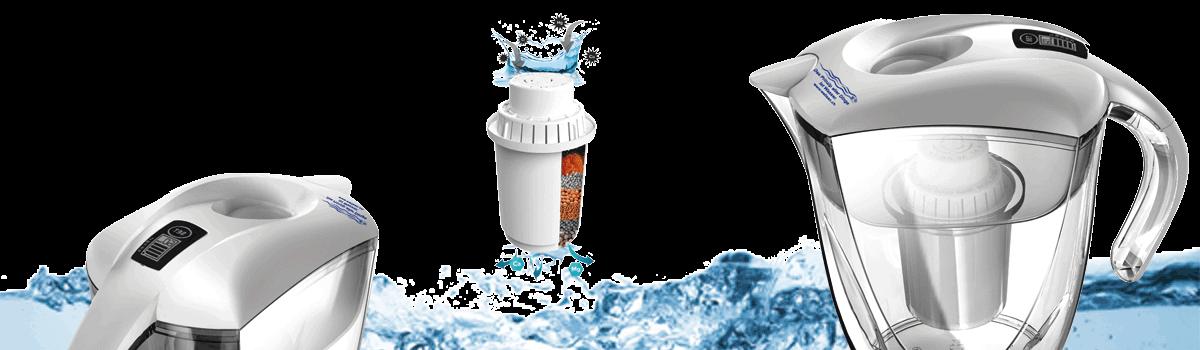Tischwasserfilter mit Aktiv Filter für wohlschmeckendes und Vitales Wasser