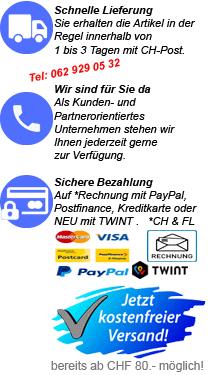Schnelle Lieferung-Wir sind für Sie da-Sichere Bezahlung-Portofreie Lieferung
