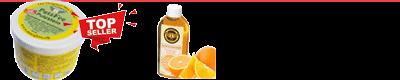 putzstein und orangenreiniger
